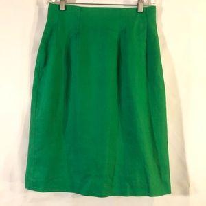 Vintage Green Linen Secretary Skirt